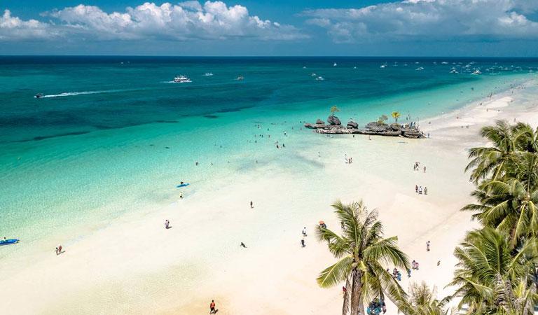 Filipíny Bohol Island pláž