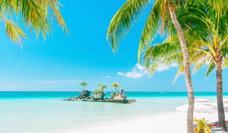 Filipíny Boracay Island tropický ráj