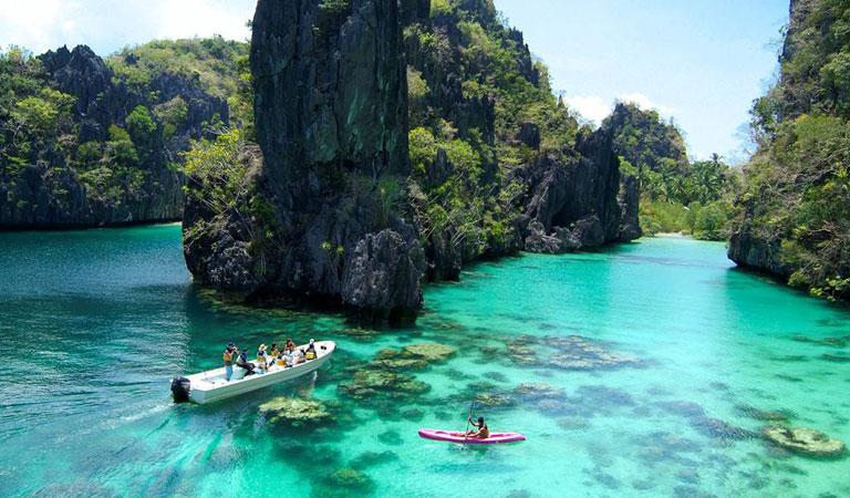 Filipíny Palawan Island laguna