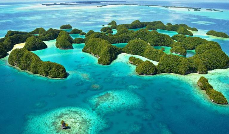 Filipíny Palawan Island laguny
